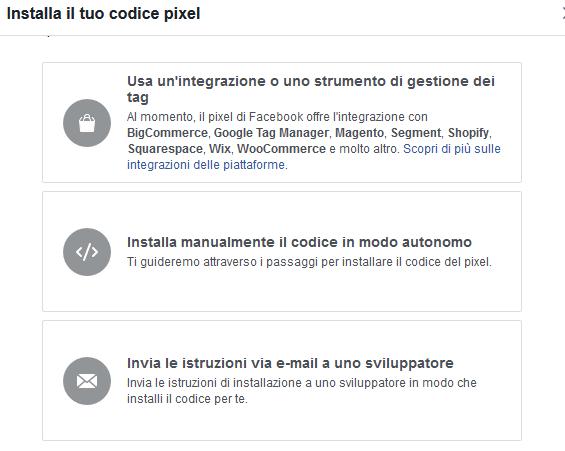 Installare il Pixel di Facebook